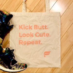 Fabletics Canvas Tote Bag | Kick Butt